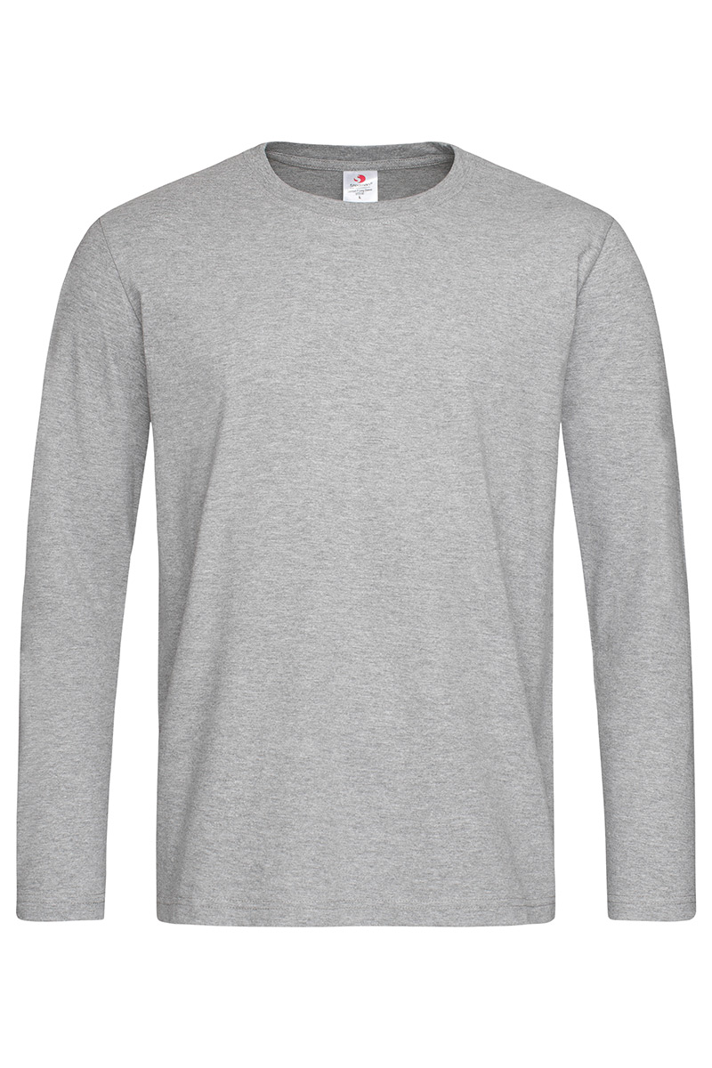 ST2130_GYH Comfort-T 185 Long Sleeve Grey Heather