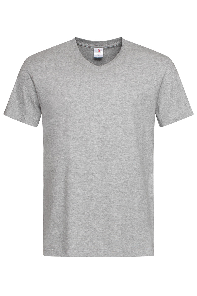 ST2300_GYH Classic-T V-neck Grey Heather