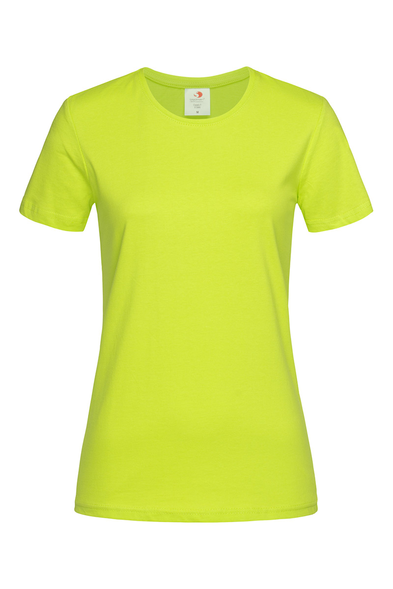 ST2600_BLI Classic-T Fitted Bright Lime