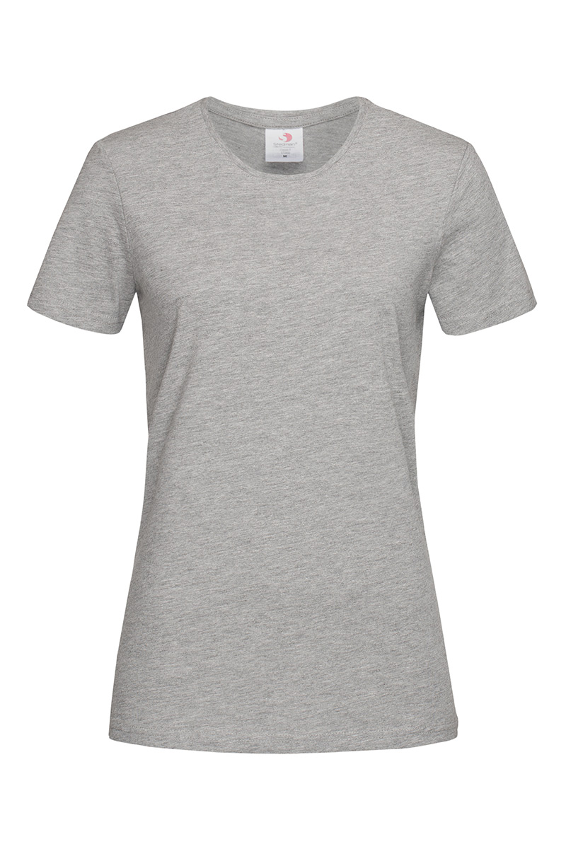 ST2600_GYH Classic-T Fitted Grey Heather