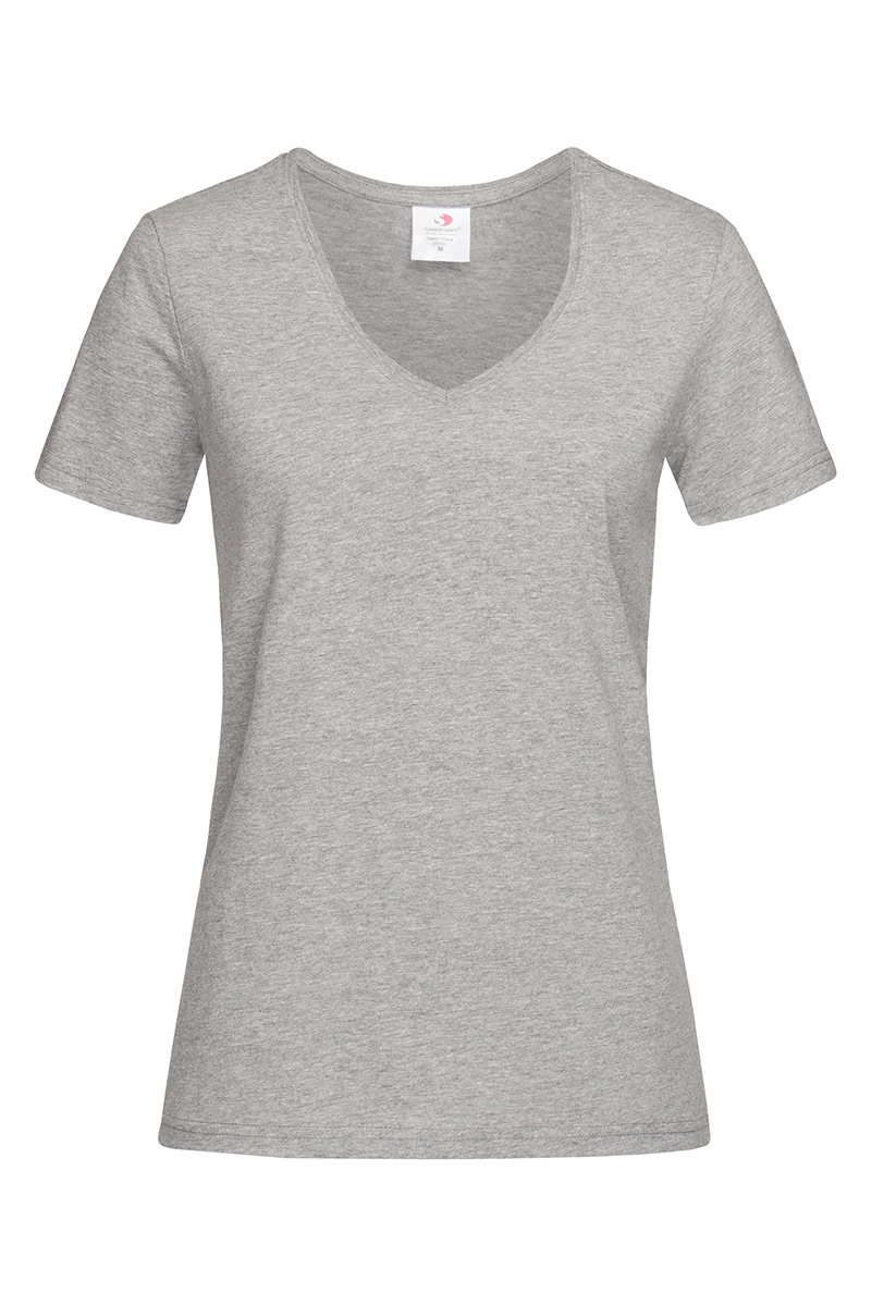 ST2700_GYH Classic-T V-neck Grey Heather