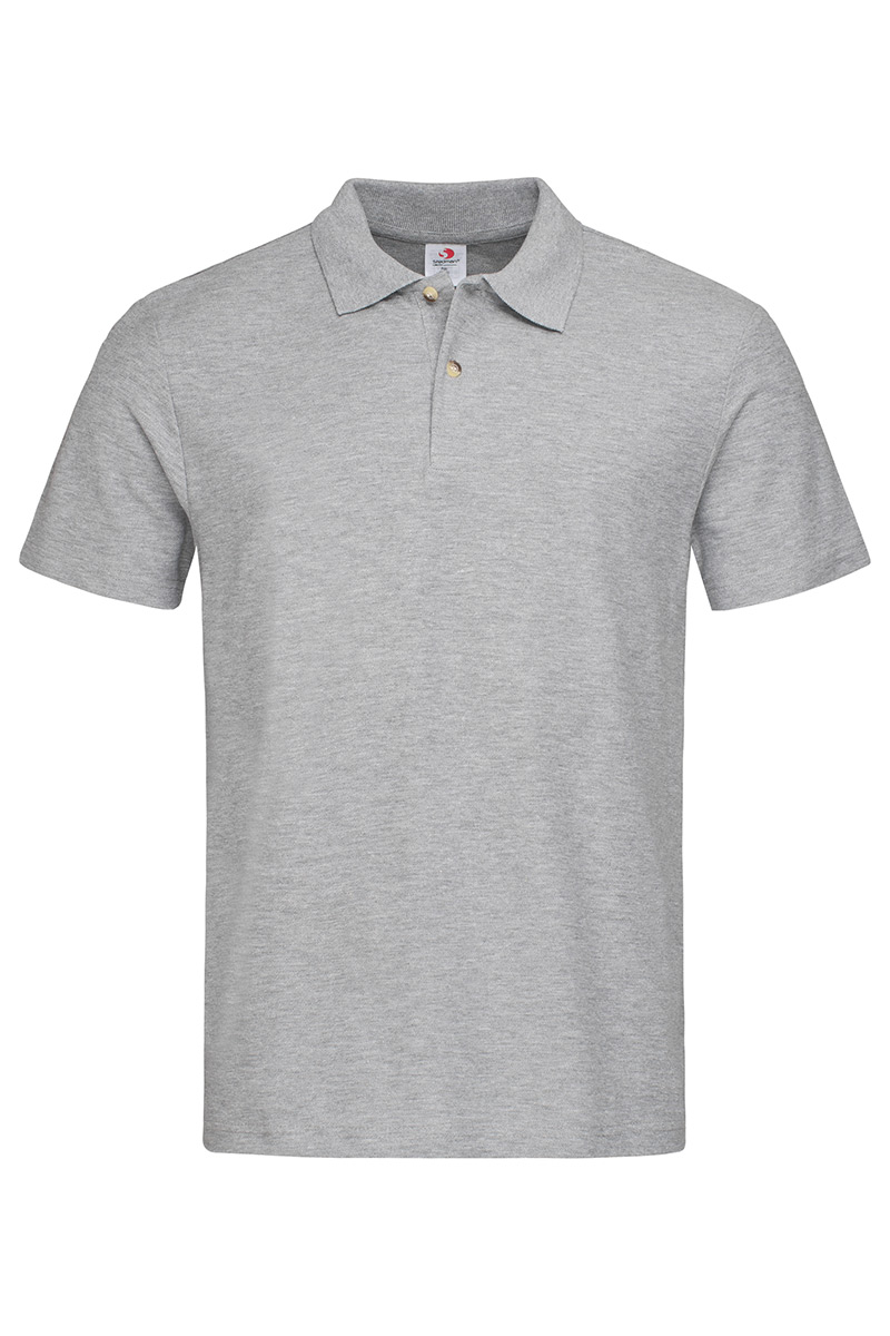 ST3000_GYH Polo Grey Heather