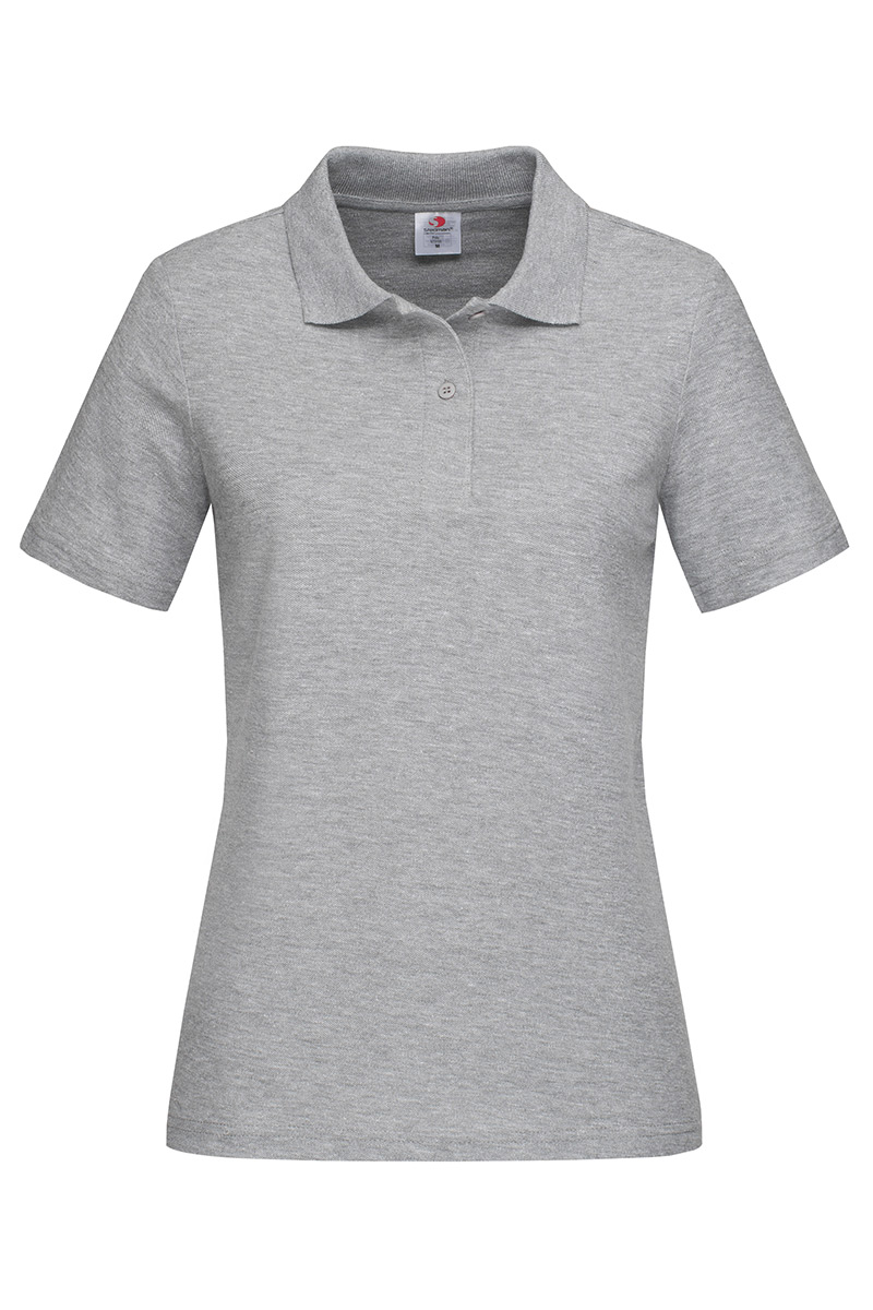 ST3100_GYH Polo Grey Heather
