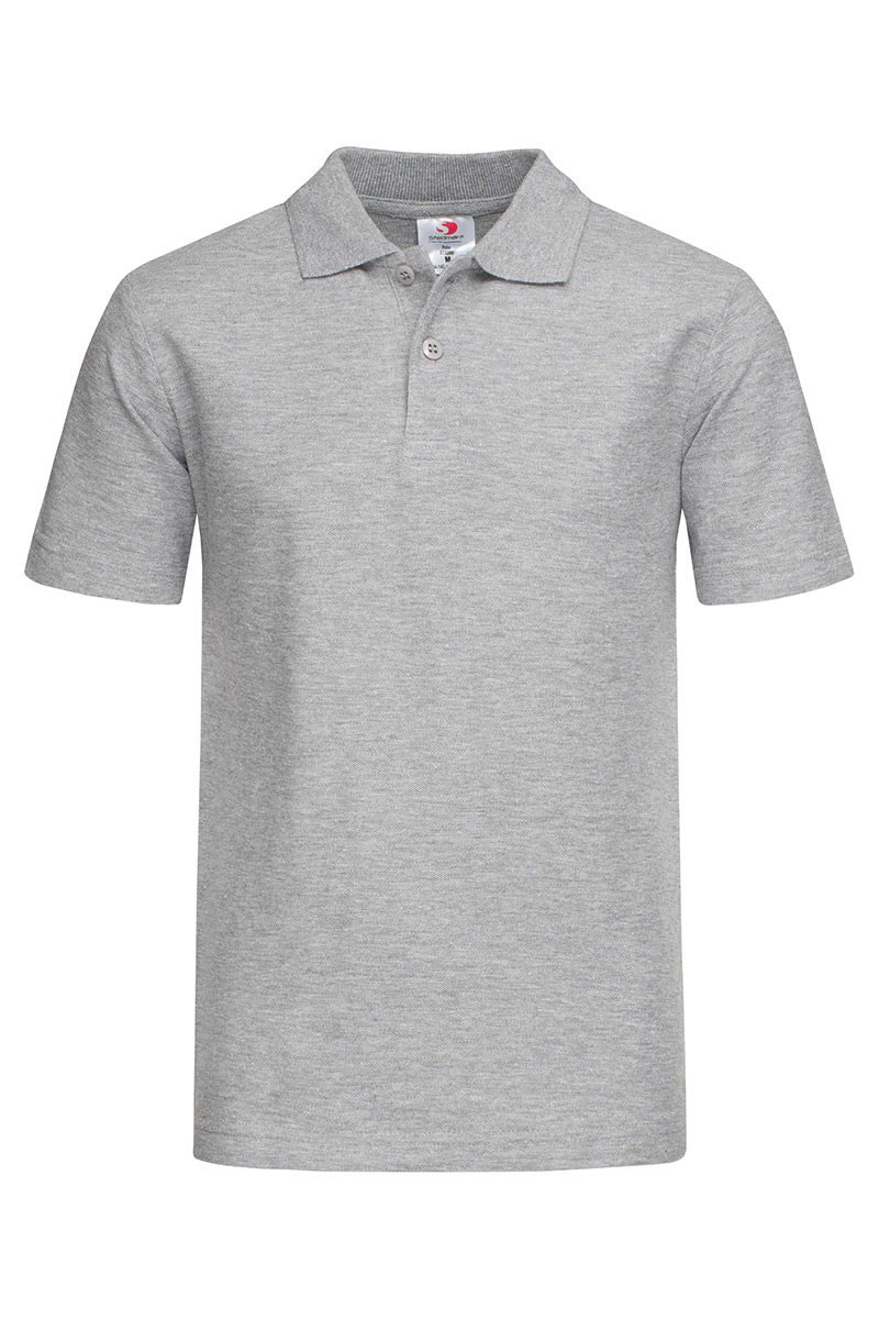 ST3200_GYH Polo Kids Grey Heather
