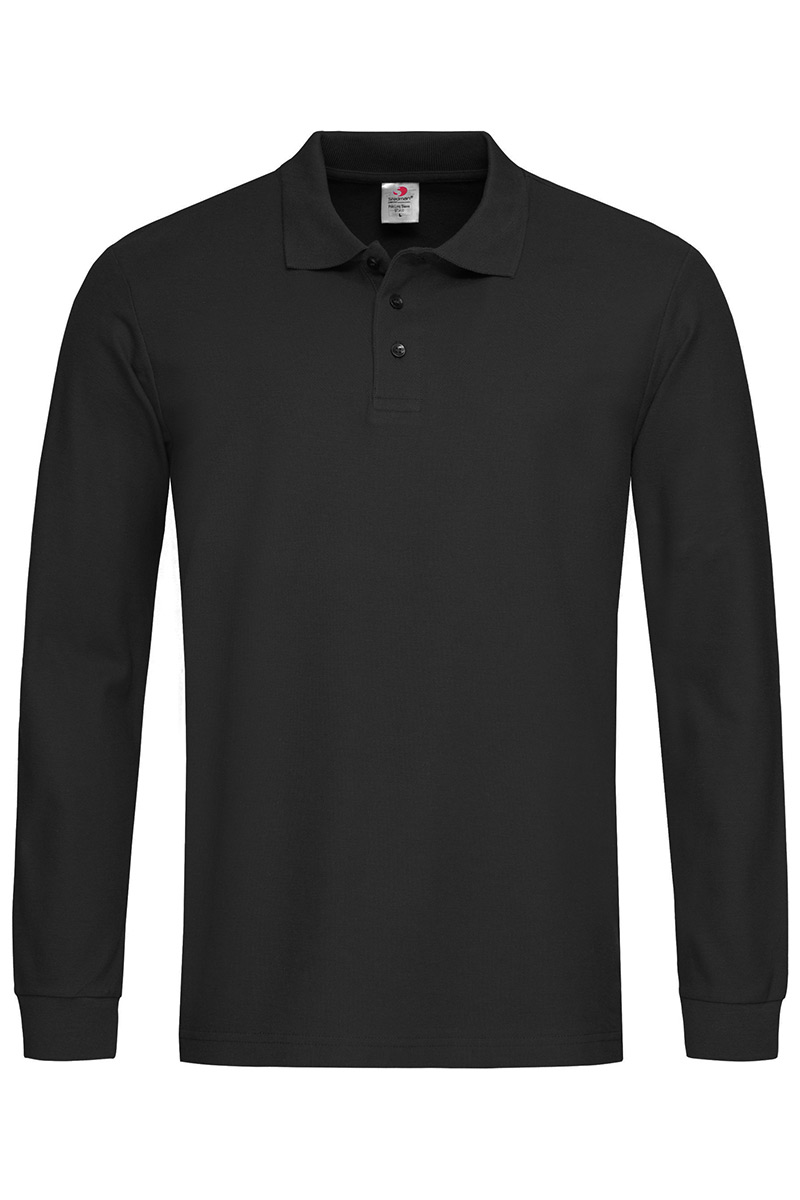 ST3400_BLO Polo Long Sleeve Black Opal