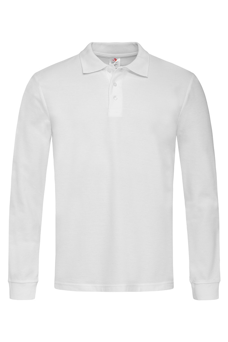 ST3400_WHI Polo Long Sleeve White