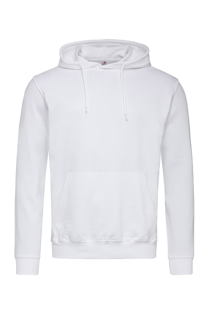 ST4100_WHI Hooded Sweatshirt White