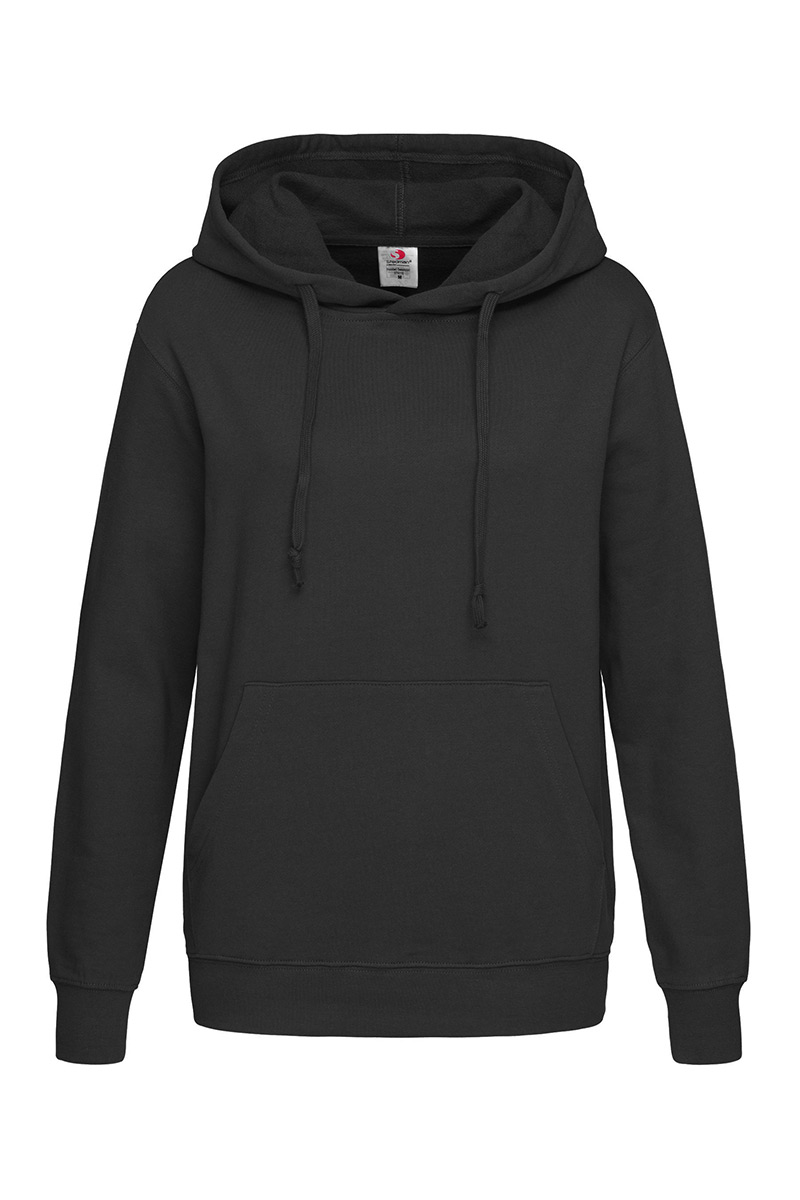 ST4110_BLO Hooded Sweatshirt Black Opal