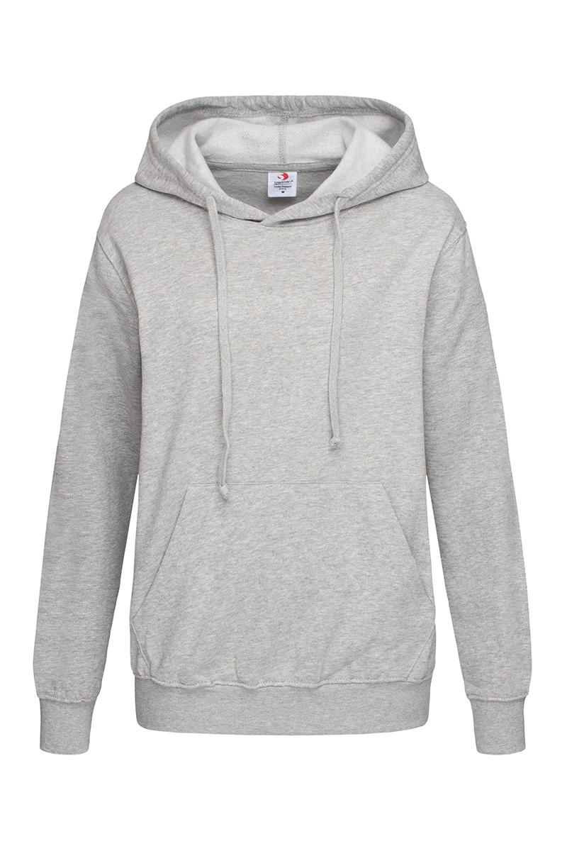 ST4110_GYH Hooded Sweatshirt Grey Heather