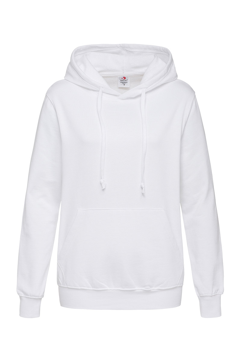 ST4110_WHI Hooded Sweatshirt White