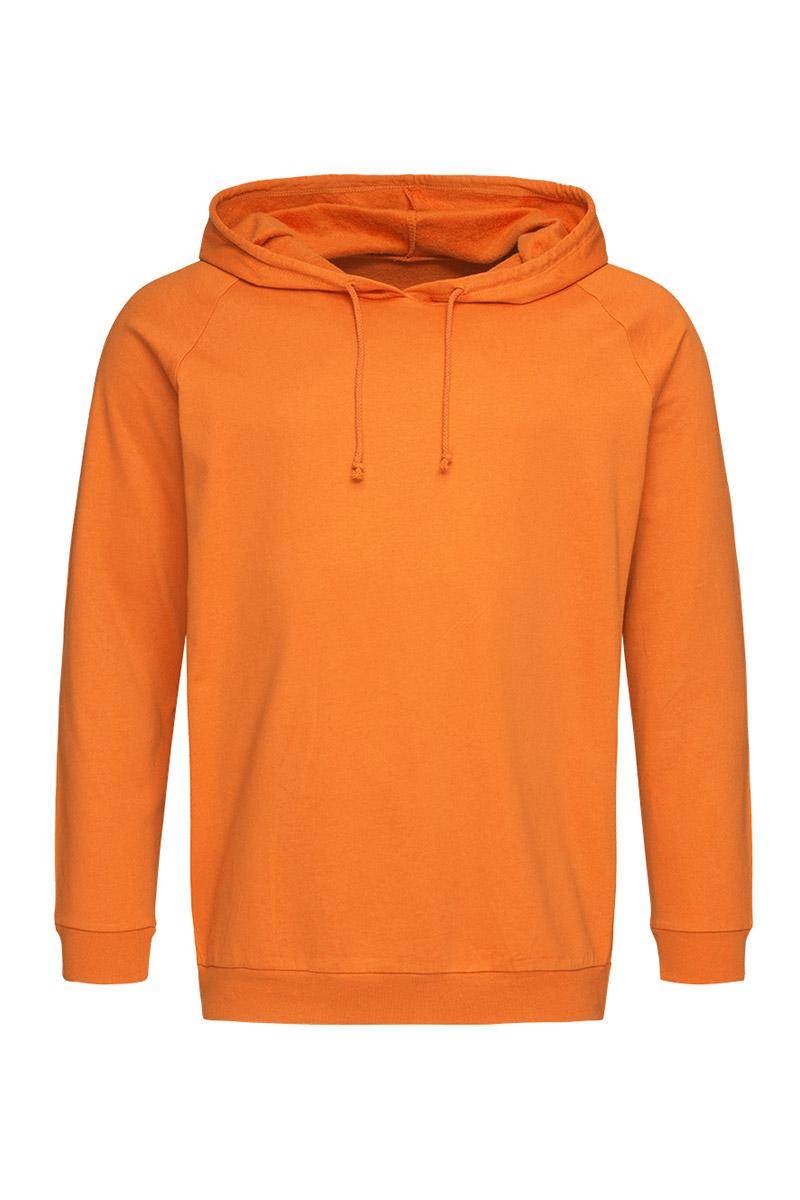 ST4200_ORA Unisex Hooded Sweatshirt Orange