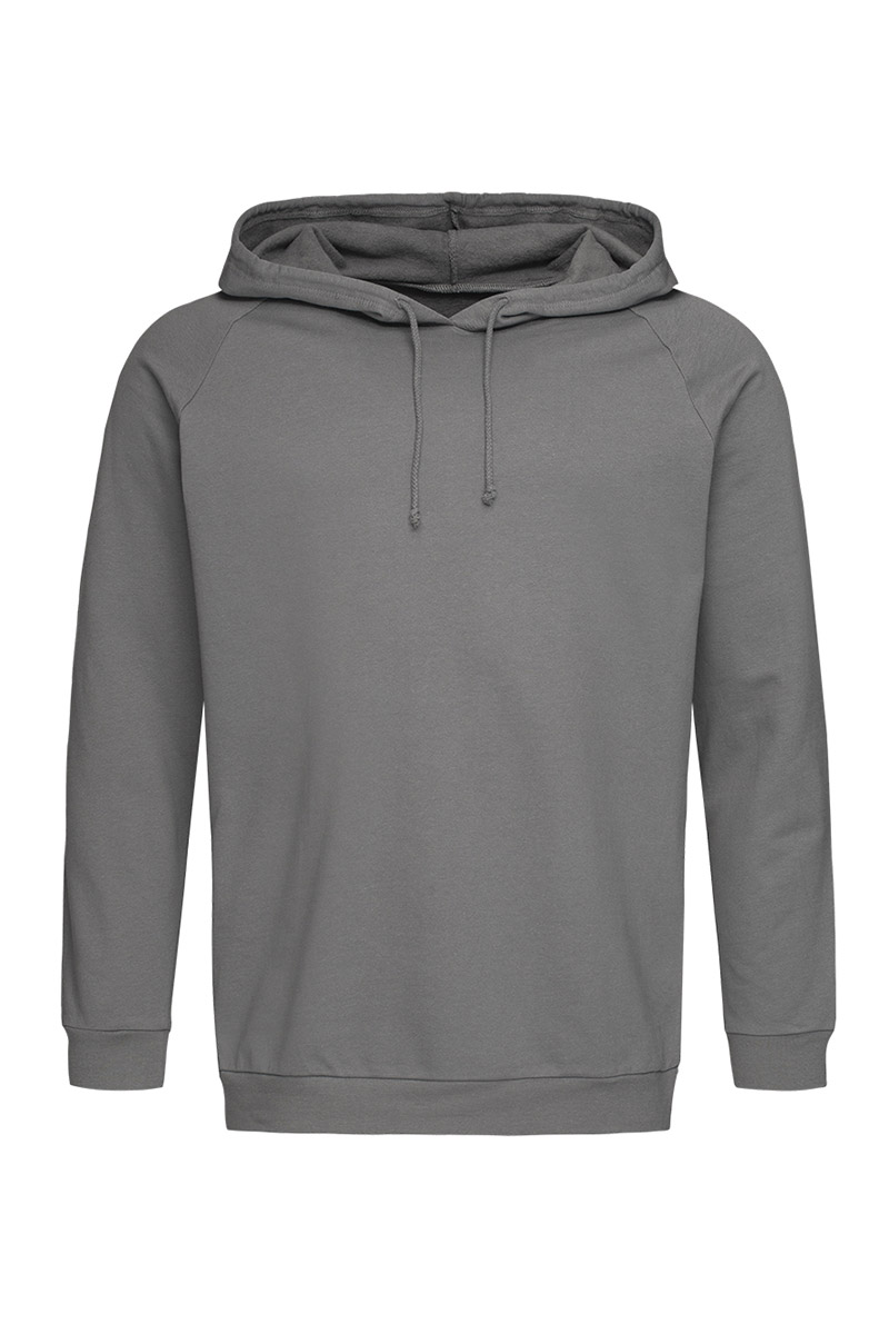 ST4200_RGY Unisex Hooded Sweatshirt Real Grey