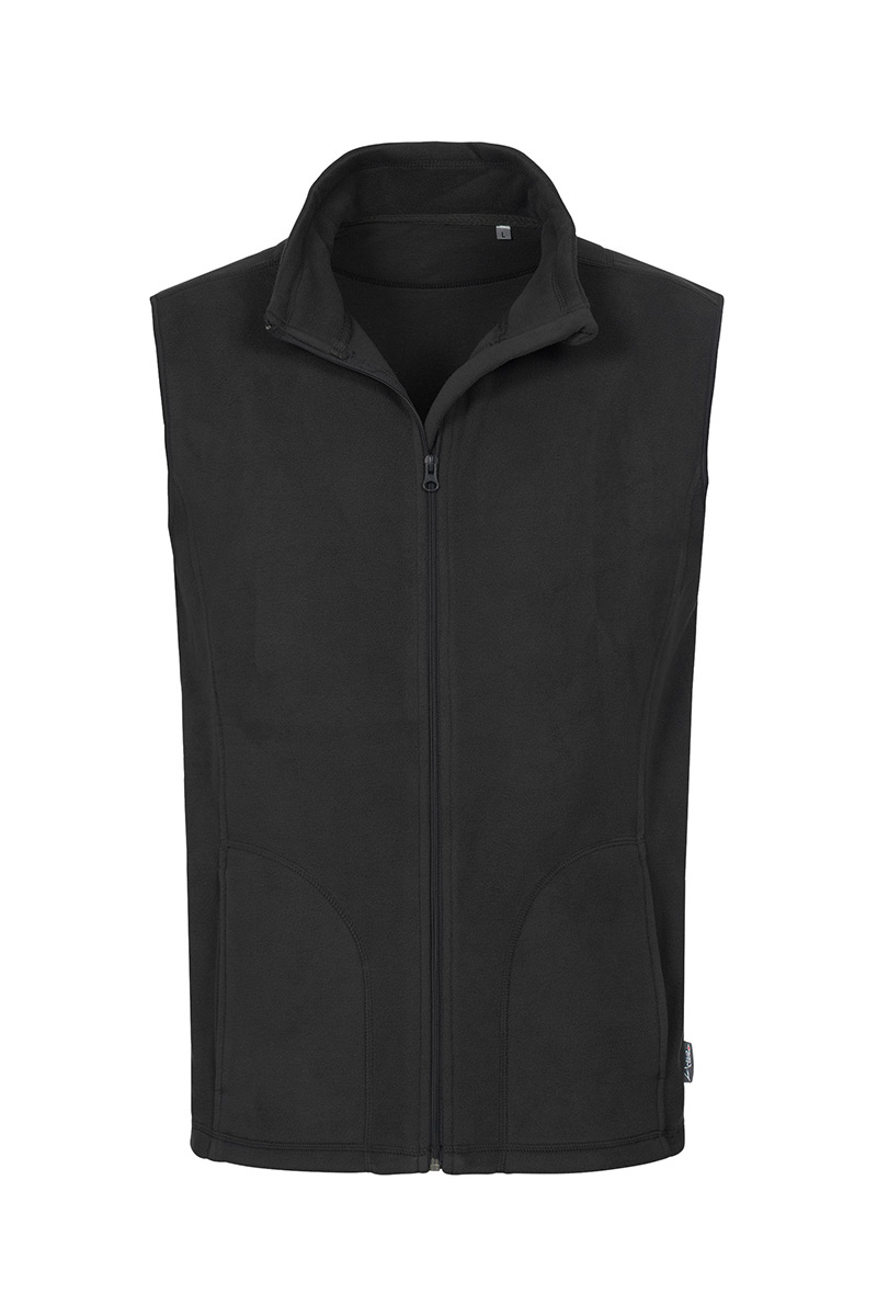 ST5010_BLO Fleece Vest Black Opal