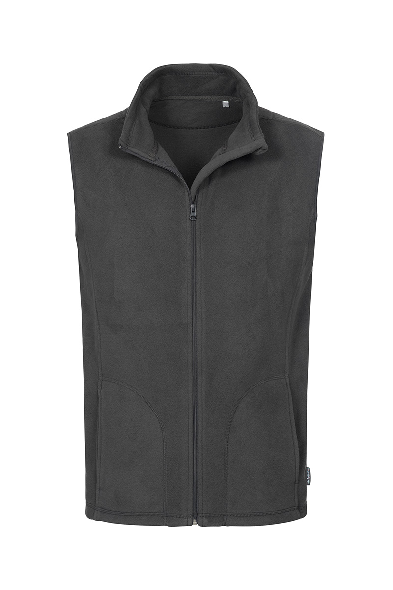 ST5010_GRS Fleece Vest Grey Steel