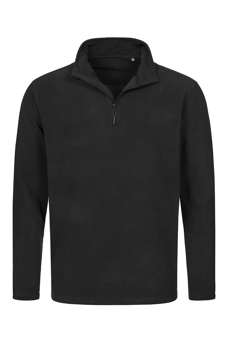 ST5020_BLO Fleece Half-Zip Black Opal