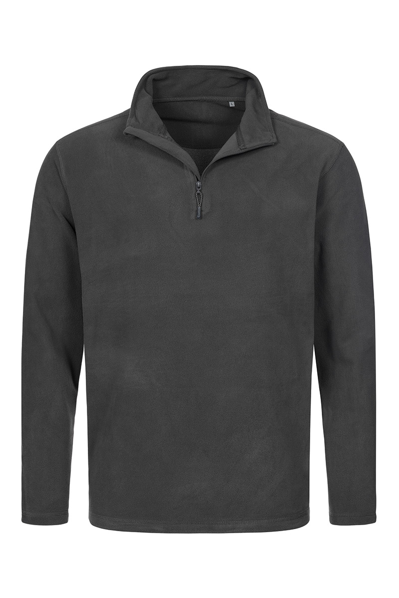 ST5020_GRS Fleece Half-Zip Grey Steel