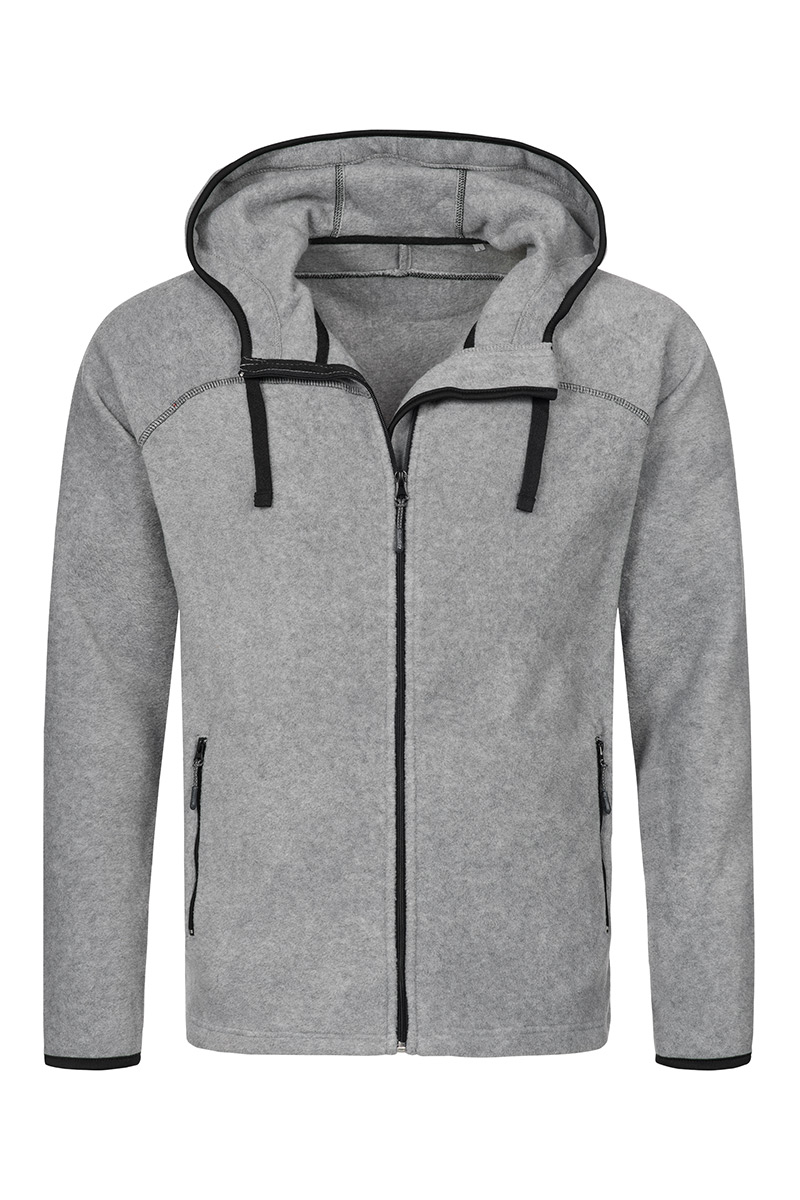 ST5040_GYH Power Fleece Jacket Grey Heather