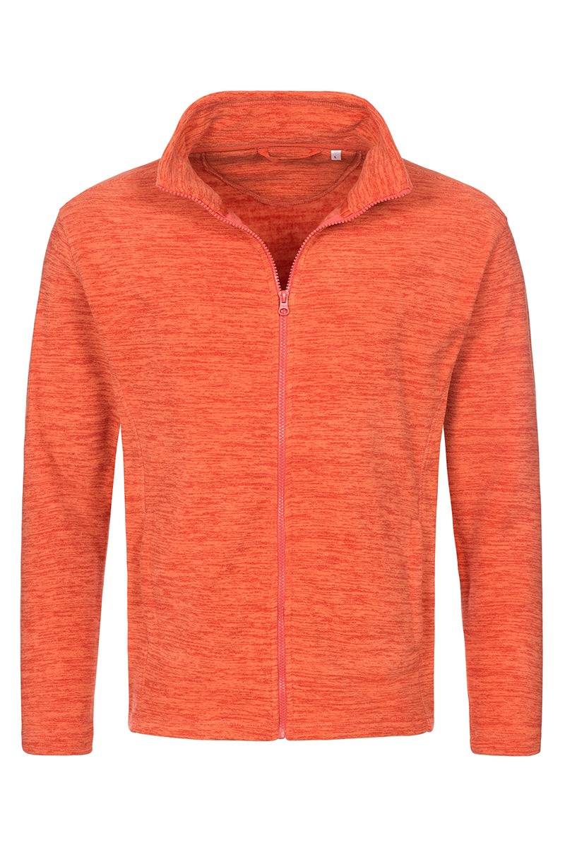 ST5060_PPM Melange Fleece Jacket Pumpkin Melange
