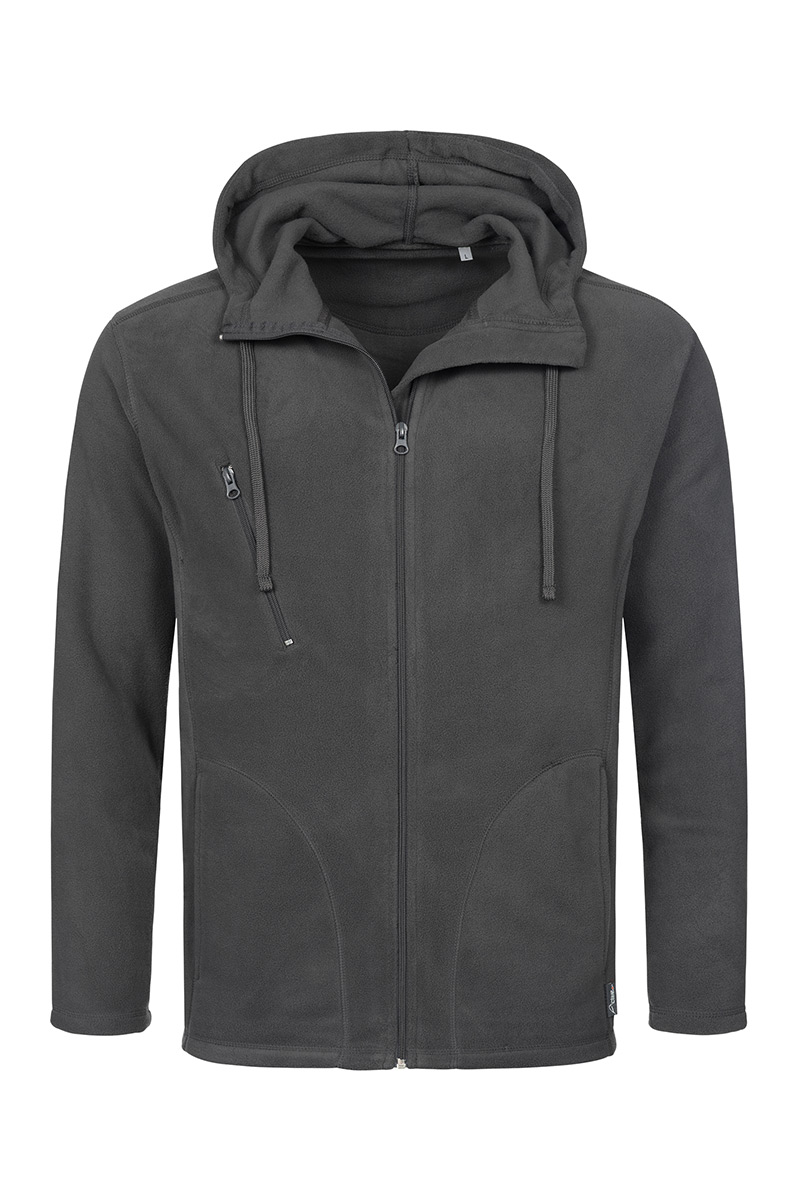 ST5080_GRS Hooded Fleece Jacket Grey Steel