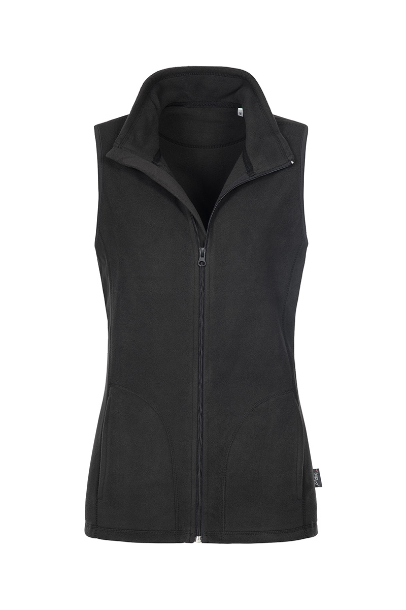ST5110_BLO Fleece Vest Black Opal