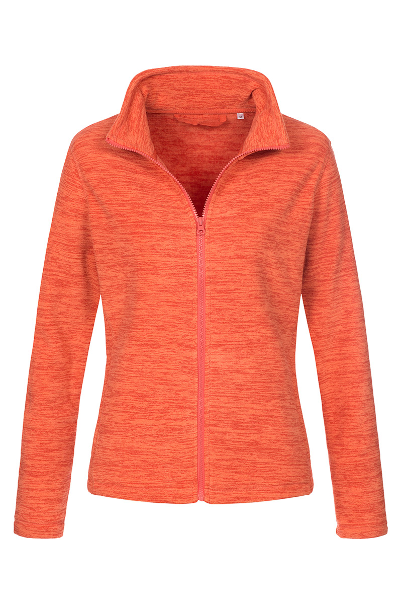 ST5140_PPM Melange Fleece Jacket Pumpkin Melange