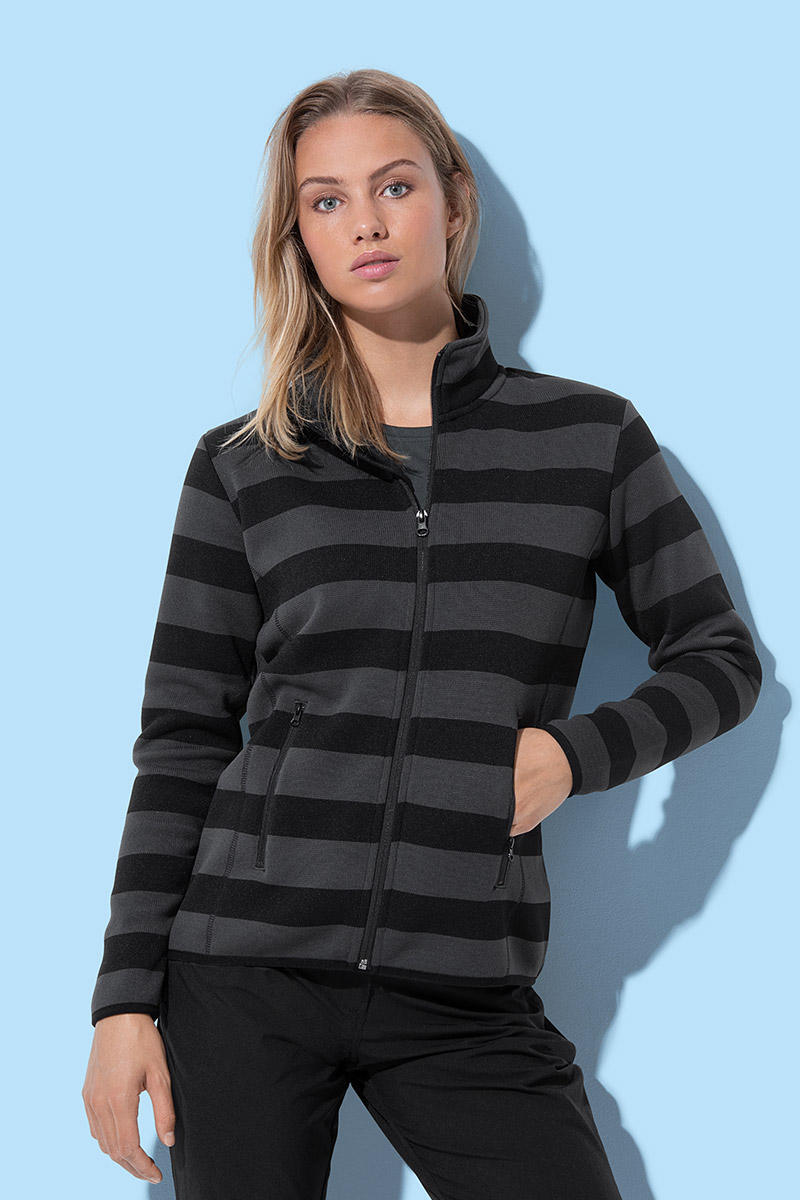 ST5190 Striped Fleece Jacket