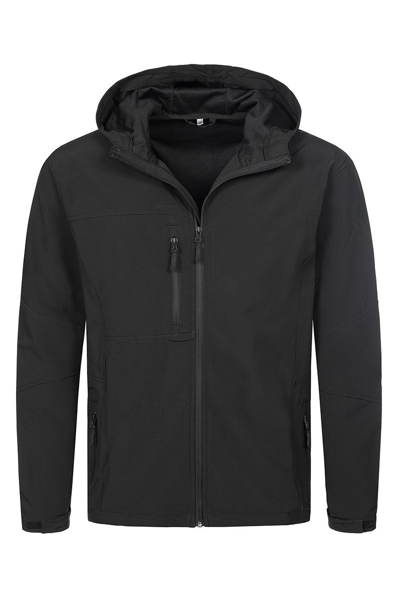 ST5240_BLO Softest Shell Hooded Jacket Black Opal
