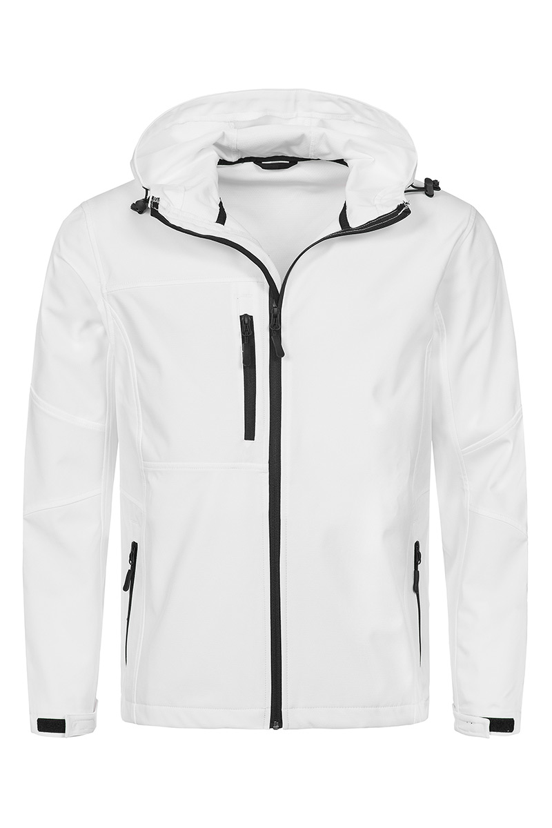 ST5240_WHI Softest Shell Hooded Jacket White