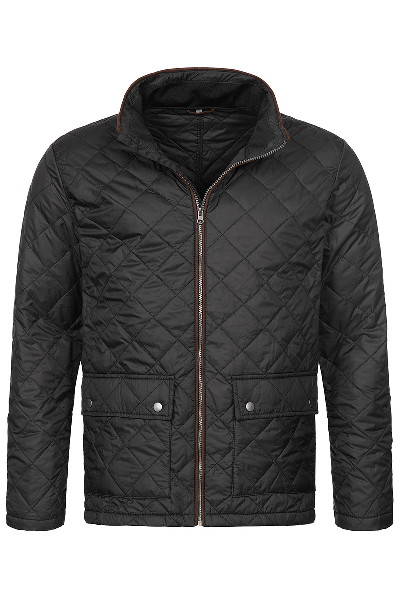 ST5260_BLO Quilted Jacket Black Opal