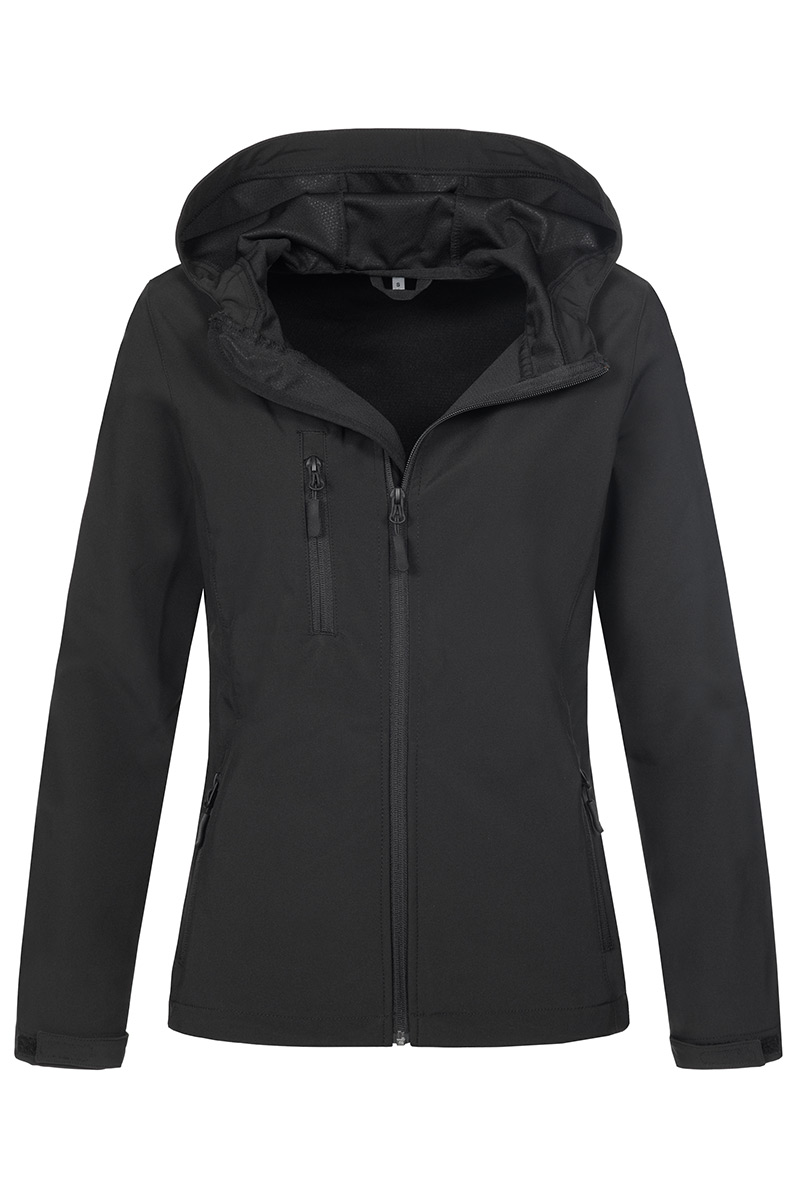 ST5340_BLO Softest Shell Hooded Jacket Black Opal