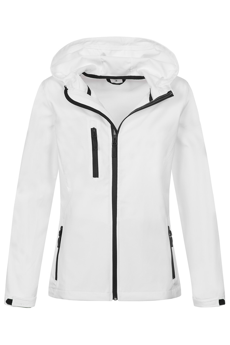 ST5340_WHI Softest Shell Hooded Jacket White
