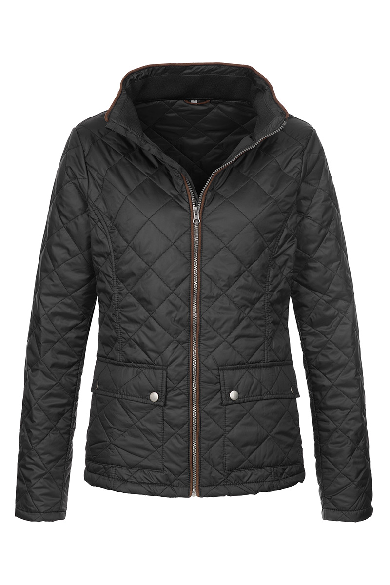 ST5360_BLO Quilted Jacket Black Opal