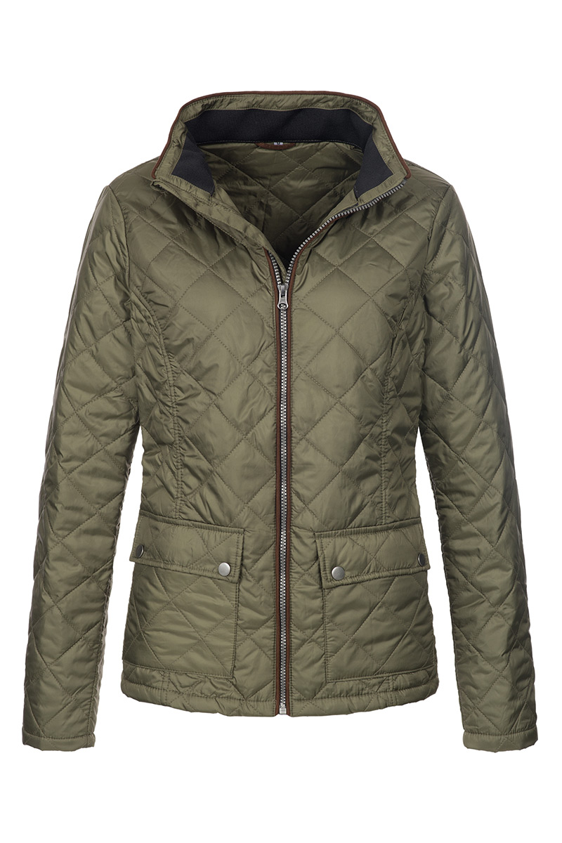 ST5360_MIL Quilted Jacket Military Green
