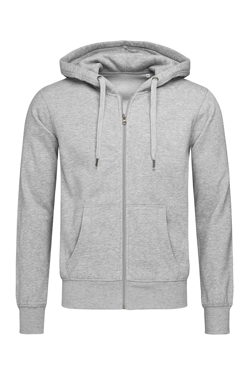 ST5610_GYH Sweat Jacket Grey Heather