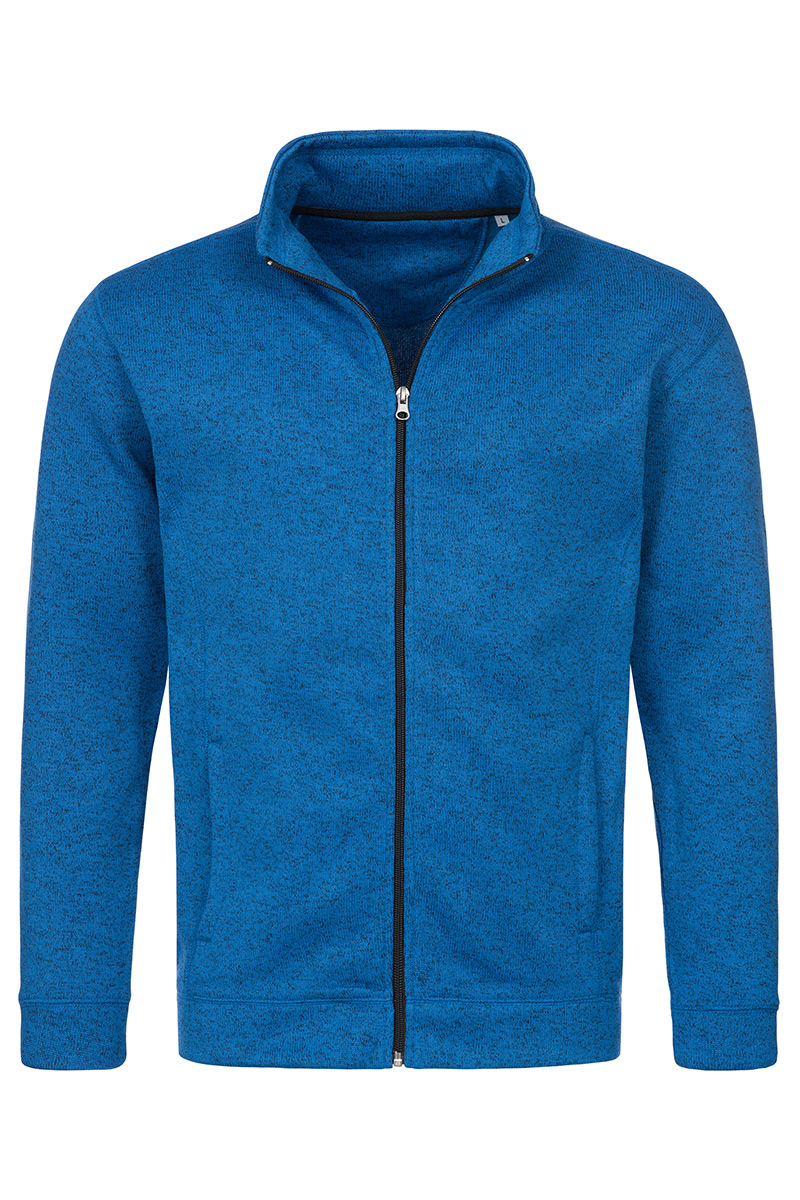 ST5850_BUM Knit Fleece Jacket Blue Melange