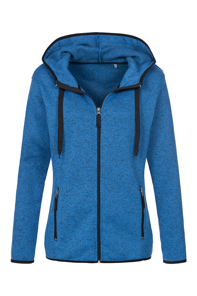 ST5950_BUM Knit Fleece Jacket Blue Melange
