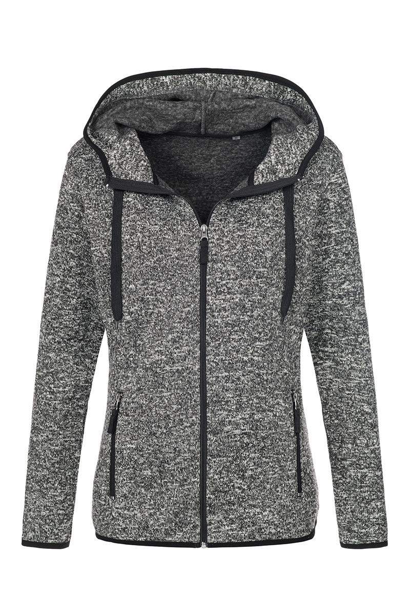 ST5950_DGM Knit Fleece Jacket Dark Grey Melange