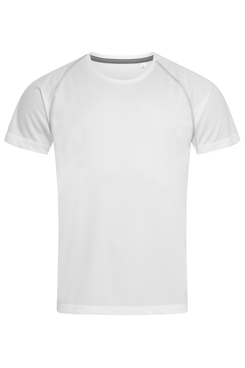 ST8030_WHI Active 140 Team Raglan White