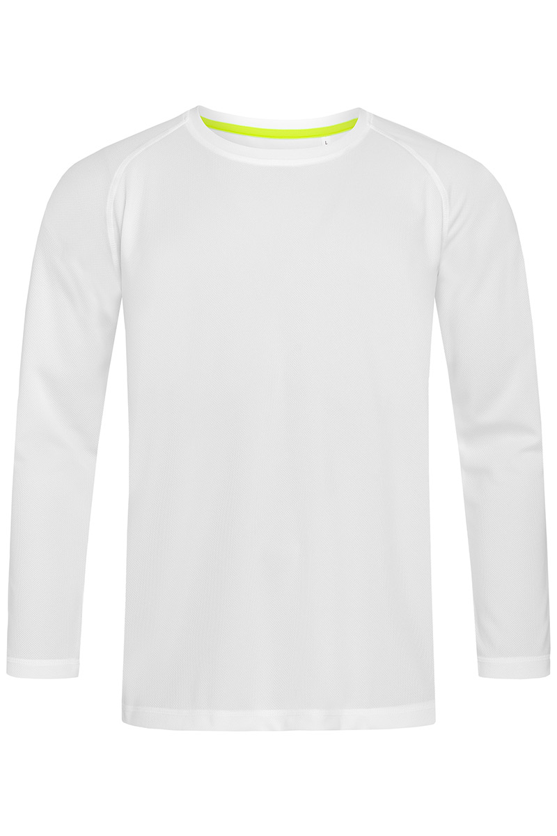 ST8420_WHI Active 140 Long Sleeve White