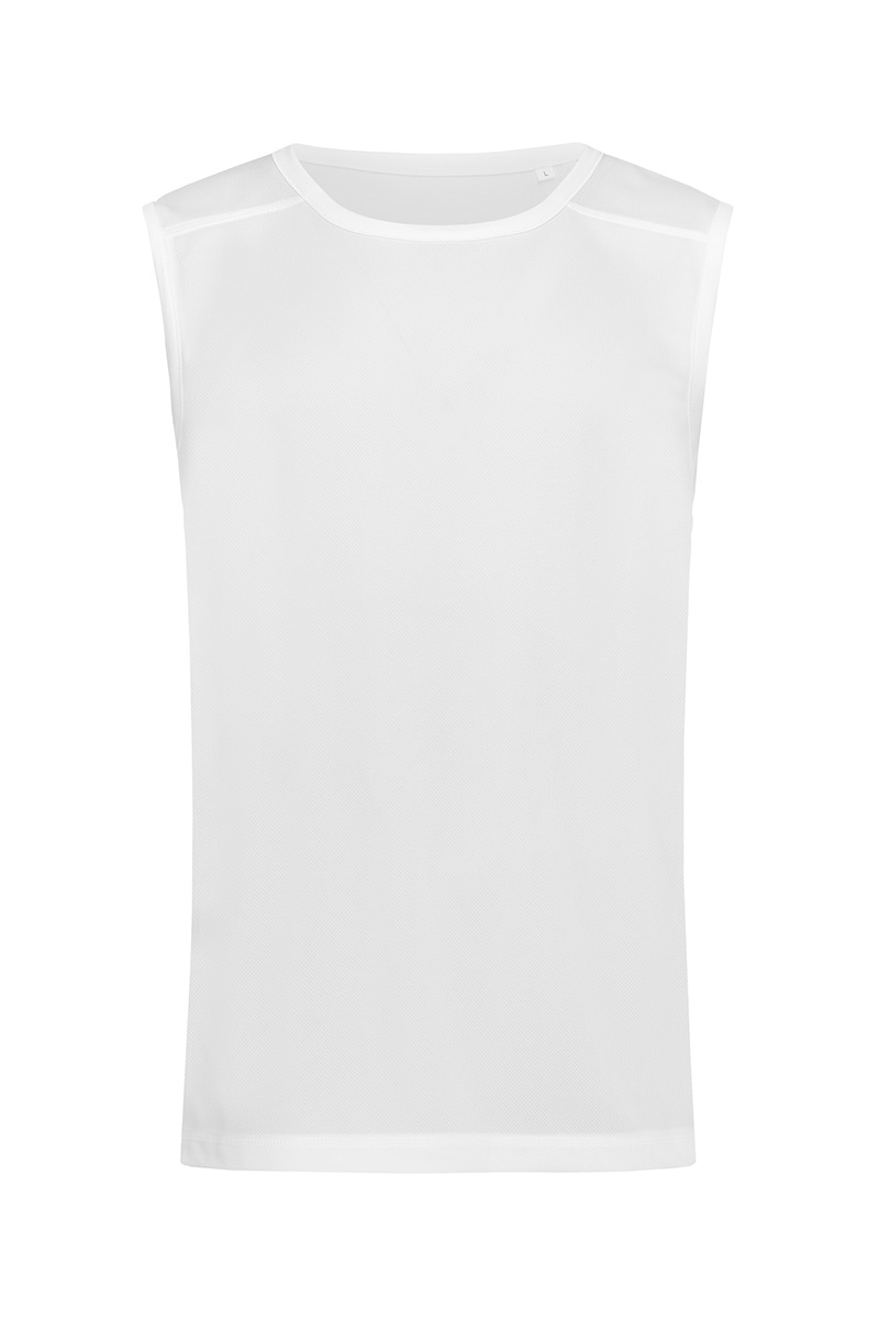 ST8440_WHI Active 140 Sleeveless White