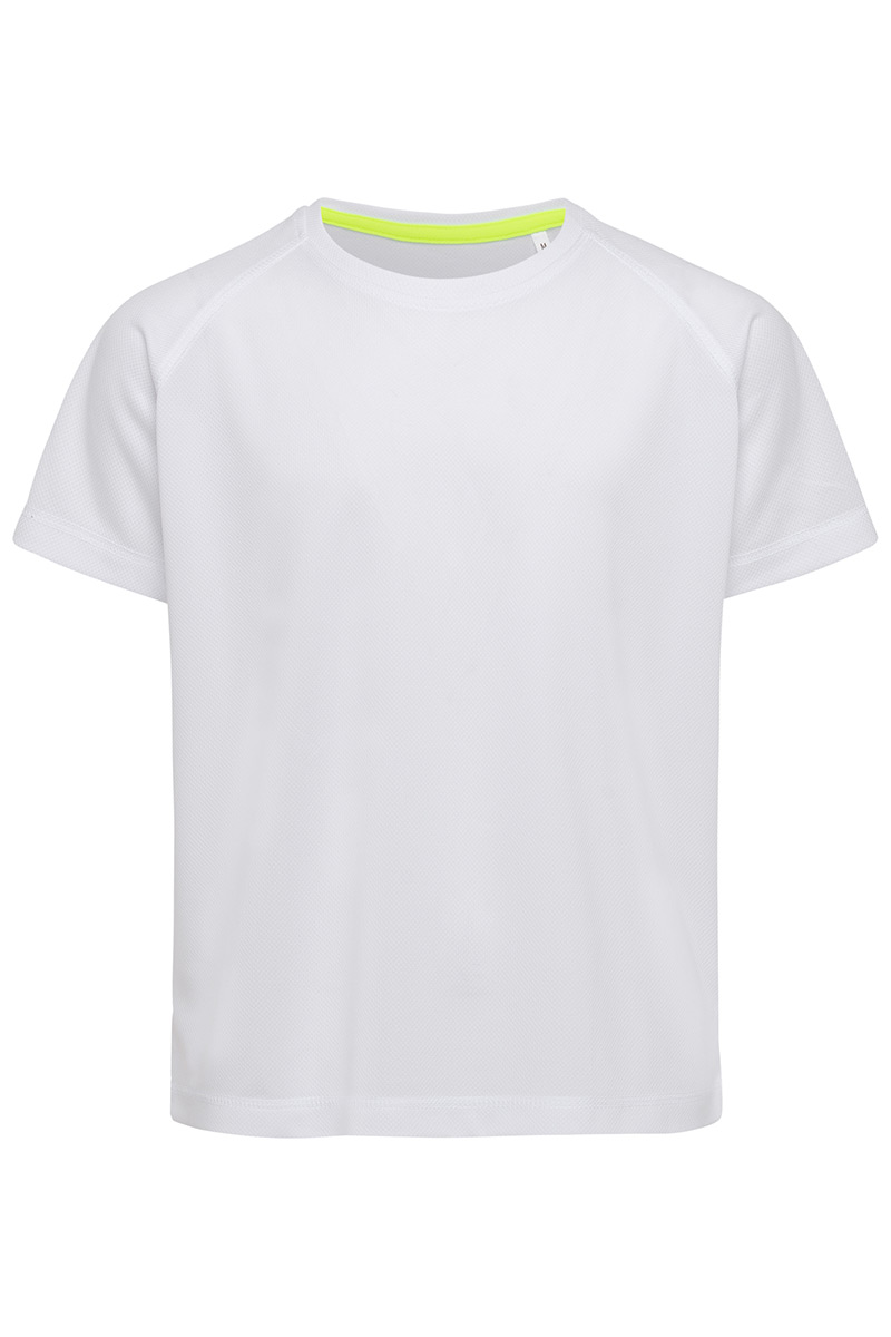 ST8570_WHI Active 140 Raglan Kids White