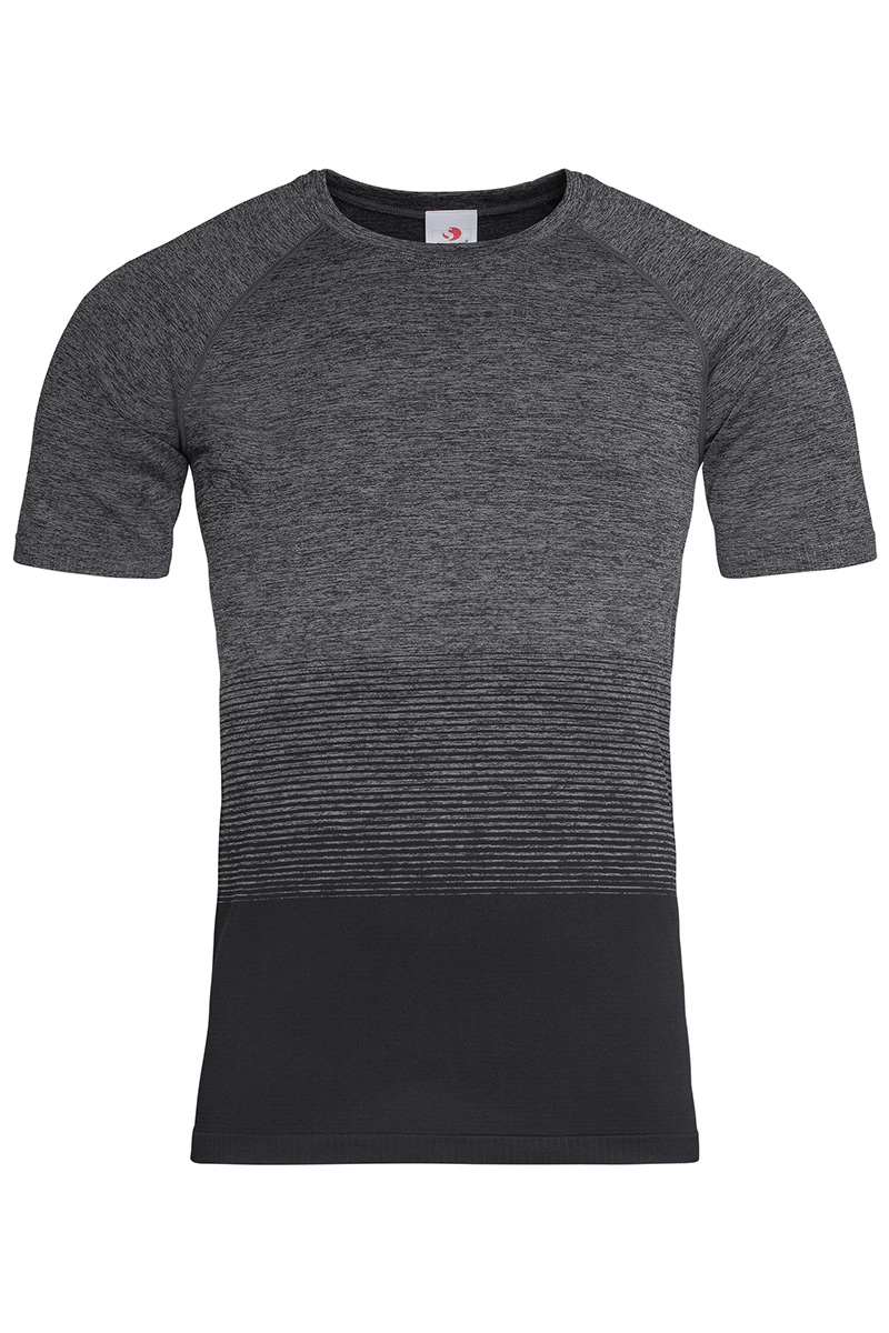 ST8810_DGT Seamless Raglan Flow Dark Grey Transition