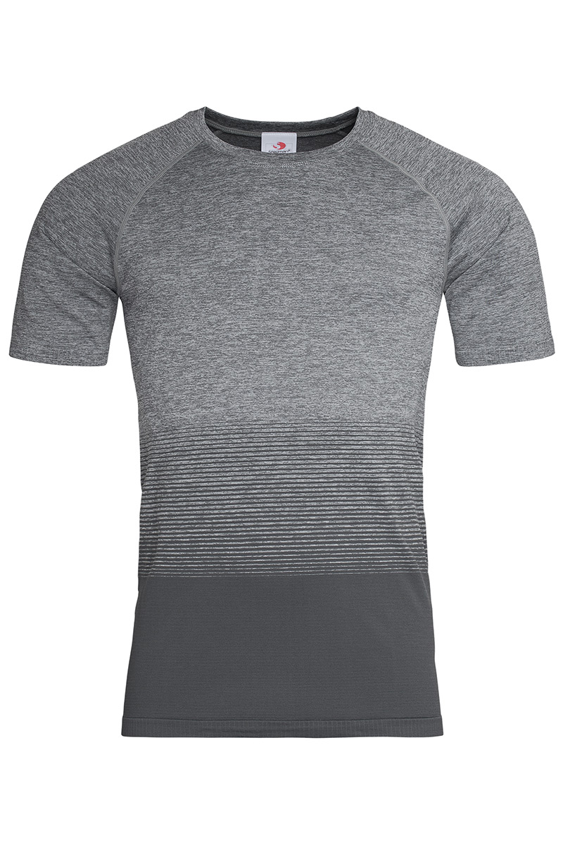 ST8810_LGT Seamless Raglan Flow Light Grey Transition