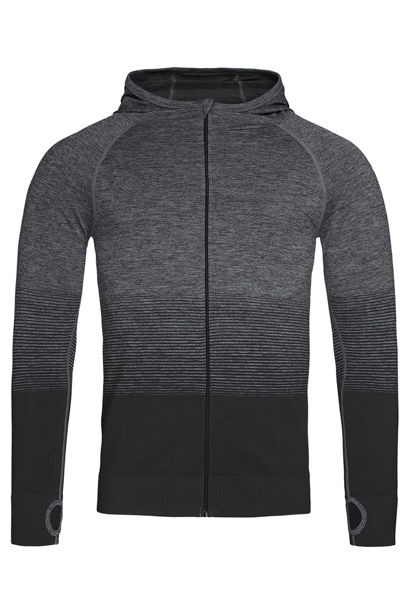 ST8820_DGT Seamless Jacket Dark Grey Transition