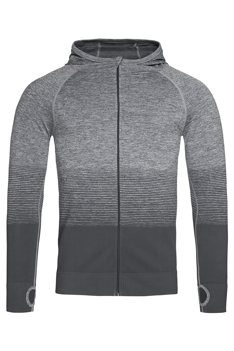 ST8820_LGT Seamless Jacket Light Grey Transition