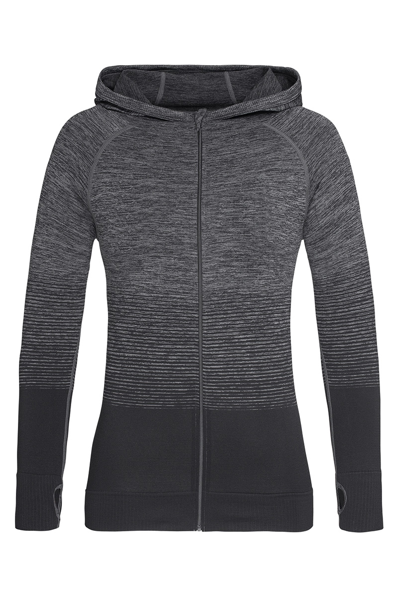 ST8920_DGT Seamless Jacket Dark Grey Transition