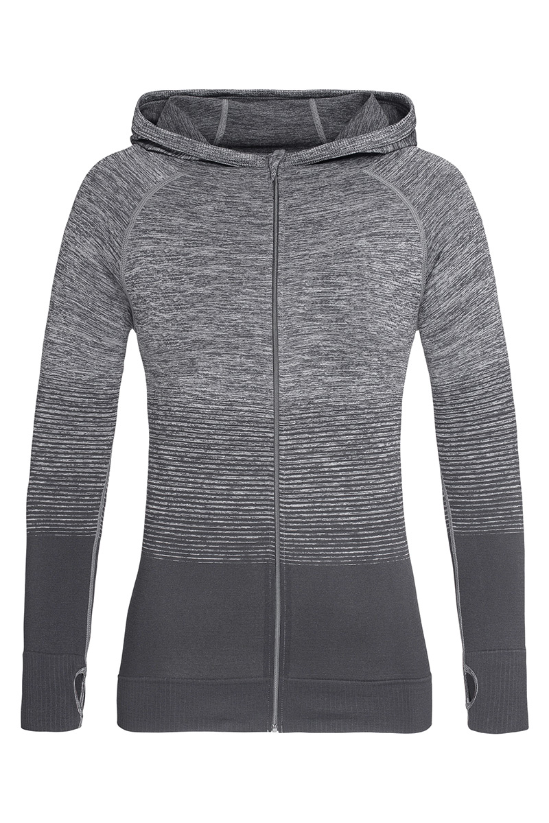 ST8920_LGT Seamless Jacket Light Grey Transition