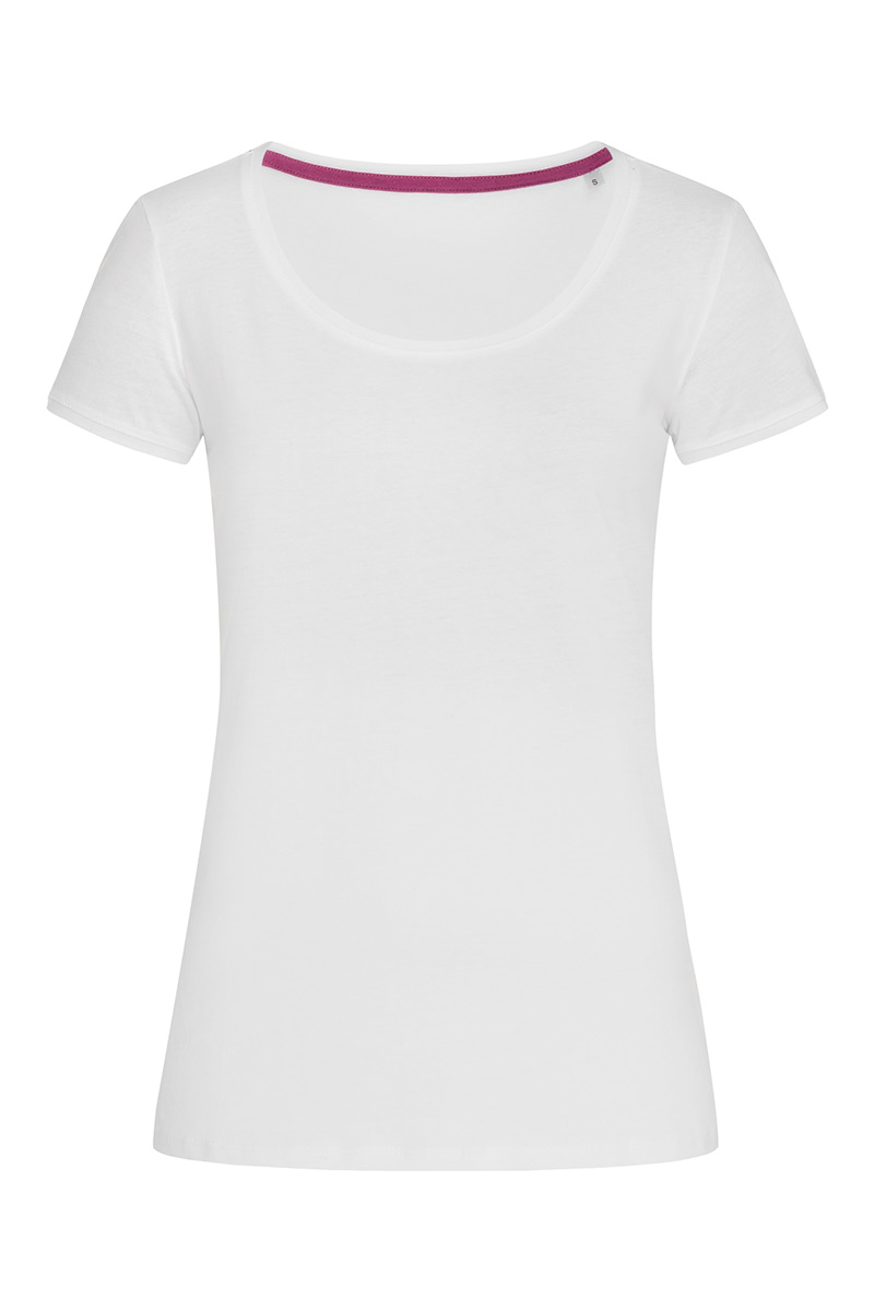ST9120_WHI Megan Crew Neck White