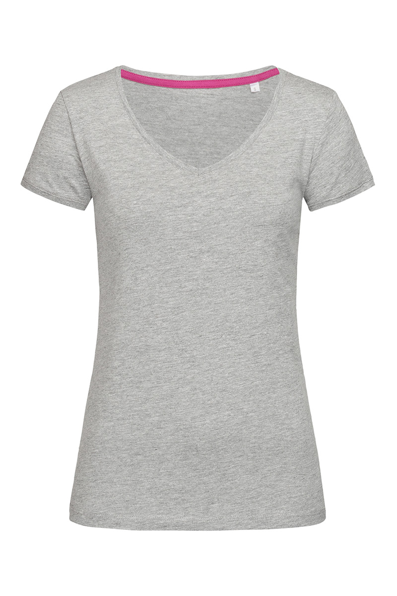 ST9130_GYH Megan V-neck Grey Heather