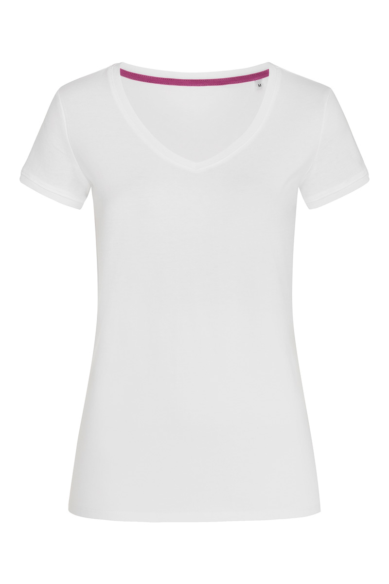 ST9130_WHI Megan V-neck White